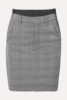 Vetements Checked Cady And Wool-blend Mini Skirt - Gray