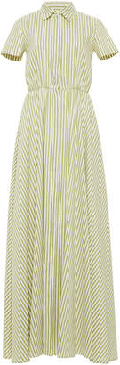 Linen Stretch Stripes Long Chemise Dress Luisa Beccaria Outlet Shopping Online Buy Cheap Discount Wiki Cheap Online Cheap Price Factory Outlet CLiCkH