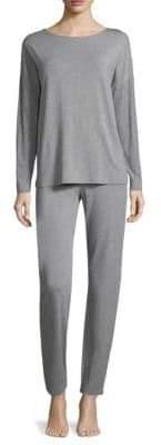 Hanro Natural Elegance Long-Sleeve Pajamas