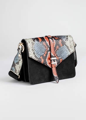 And other stories Suede Snake Accordion Bag