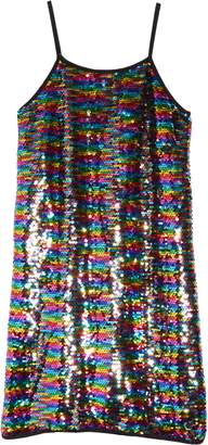 Flowers by Zoe Rainbow Sequin Slipdress