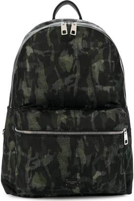 Dolce & Gabbana camouflage zipped backpack