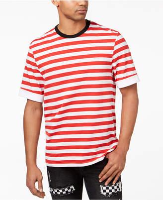 Jaywalker Men's Stripe Cuffed-Sleeve T-Shirt