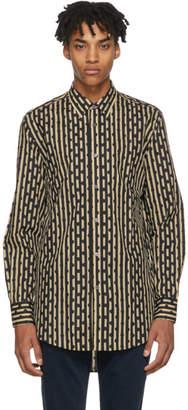 Burberry Beige and Navy Strenton Shirt
