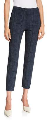 Piazza Sempione Laura Plaid Cropped Trousers
