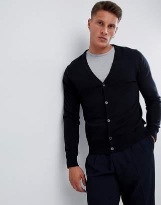 Burton Menswear cardigan in black