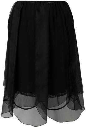 Prada layered tulle petal skirt
