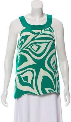 Tibi Silk Sleeveless Printed Top