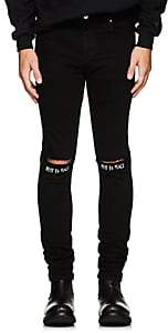 "RtA Men's ""Rest In Peace"" Skinny Jeans - Black"