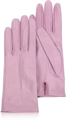 Forzieri Women's Candy Pink Unlined Italian Leather Gloves