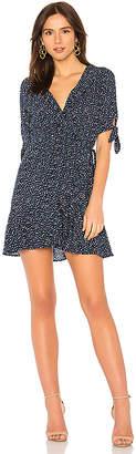 AUGUSTE Daphne Crop Sleeve Wrap Mini Dress