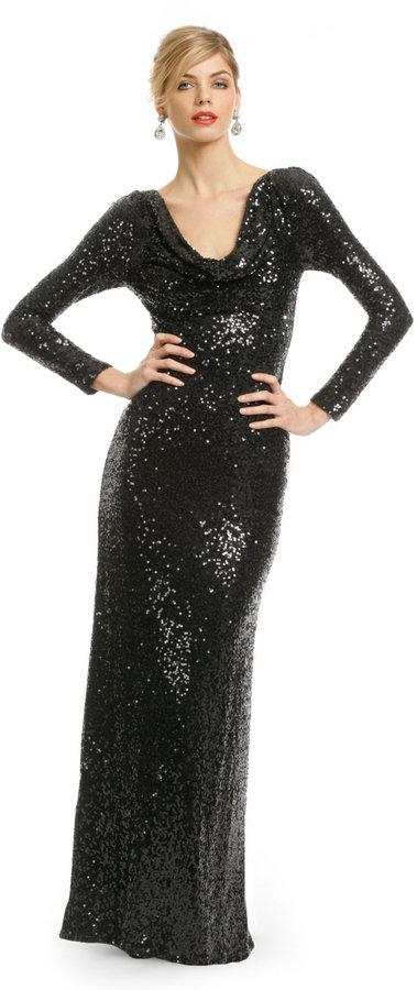 Badgley Mischka Sequin Remix Gown