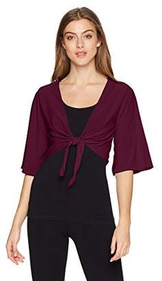 Star Vixen Women's 3/4 Sleeve Tiefront Shrug