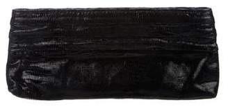 Lauren Merkin Embossed Suede Clutch