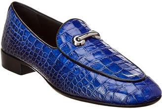 Giuseppe Zanotti Archibald Classic Croc-Embossed Leather Loafer