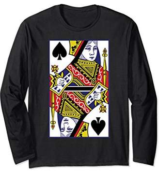 Queen Of Spades Playing Card Long Sleeve Shirt