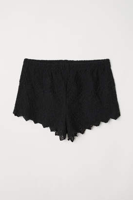 H&M Lace Shorts - Black