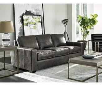 Latitude Run Dansville Three Seat Full Top Grain Leather Sofa