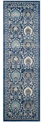 Andover Mills Aegean Blue/Ivory Area Rug