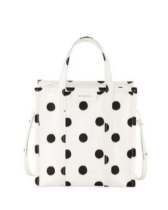 Balenciaga Bazar Shopper Small AJ Polka Dot Tote Bag