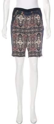 A.L.C. Mid-Rise Silk Shorts