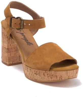 Free People Brook Cork Block Heel Sandal