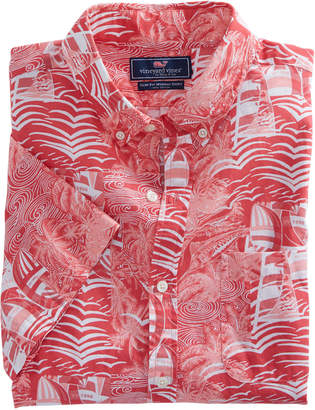 Vineyard Vines Short-Sleeve At Sea Patchwork Slim Tucker Shirt
