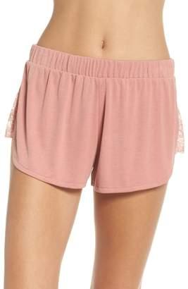 Honeydew Intimates Lace Trim Ribbed Pajama Shorts