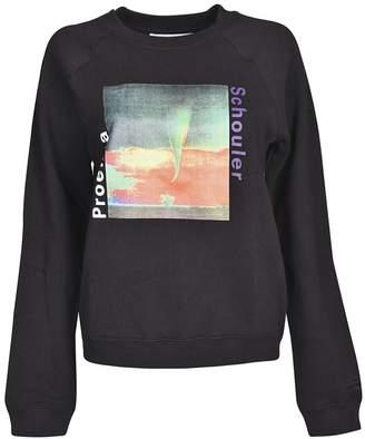 Proenza Schouler Pswl Sky Graphic Sweatshirt