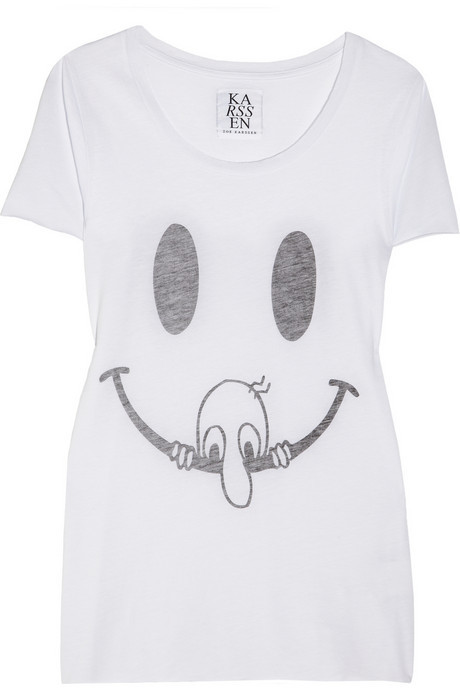 Zoe Karssen Smiley Face cotton and modal-blend T-shirt