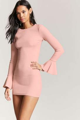 Forever 21 Trumpet Sleeve Bodycon Dress