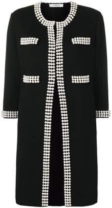 Charlott faux-pearl embellished cardigan
