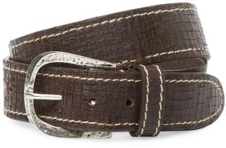 Berge Men's Crackled Leather Belt