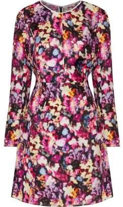Nina Ricci Printed Silk-Organza Mini Dress