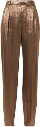 Alberta Ferretti Bronze Lame Trousers