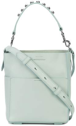 AllSaints silver studded tote bag