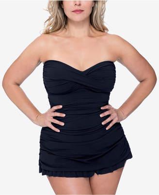 2c64b4290606a Gottex Profile By Plus Size Tutti Fruitti Ruched Swimdress