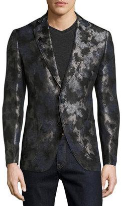 Robert Graham Dunloy Metallic Camo Sport Coat, Black $695 thestylecure.com