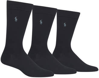 Polo Ralph Lauren Men's 3 Pack Supersoft Dress Socks Extended Size 13-16