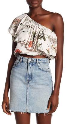Elan International One Shoulder Crop Top