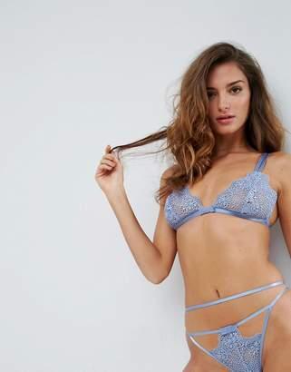 Asos DESIGN Valentina Corded Lace Triangle Bra