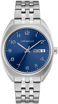 Caravelle New York Retro Stainless Steel Bracelet Watch
