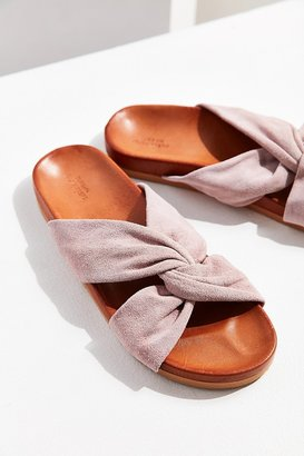 Urban Outfitters Supple Suede Twist Slide $49 thestylecure.com