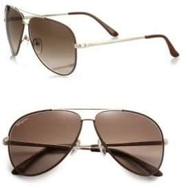 Salvatore Ferragamo Classic Aviator 60MM Sunglasses