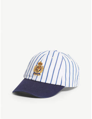 f4d434a6ad062 Polo Ralph Lauren Crest logo striped cotton baseball cap