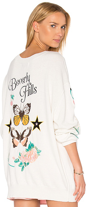 Wildfox Couture Beverly Hills Butterflies Sweater in White $264 thestylecure.com