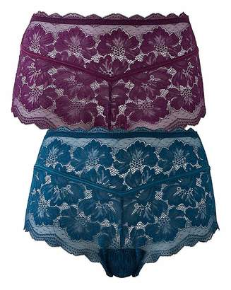 Pretty Secrets 2PK Katie Lace Midi Shorts