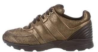 Chanel Metallic CC Sneakers
