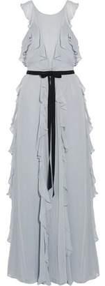 Sachin + Babi Crawford Ruffled Chiffon Gown
