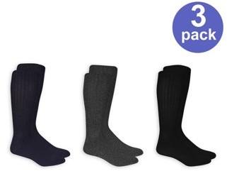 Chaps Marled True Rib Crew Socks, 3 Pairs